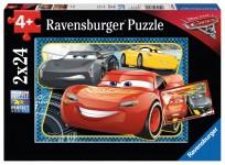 Puzzle 2x24 Vāģi -3 (2X24) Ravensburger 4+,R07808