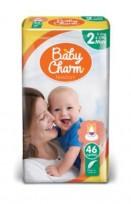 Autiņbiksītes Baby Charm 2 Newborn 3-6 kg 46 gab