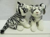 Baltais tīģeris mīkstā rotaļlieta 45 cm