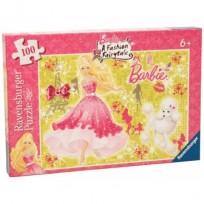 Puzzle Barbie 100 ar spīdumiem 6+,Ravensburger R13625