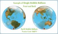 Balons SINGLE BUBBLE planēta 22/56cm