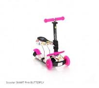 Skrejritenis Lorelli  SMART Pink BUTTERFLY (20011)