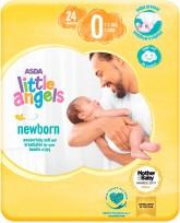 Little Angels Newborn autiņbiksītes 0 Tiny Baby 1-2.5kgs