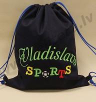 Bērnu sporta soma ar personalizētu izšuvumu Nr 2135