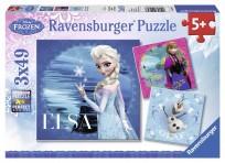 Puzzle 3x49 Frozen 5+,Ravensburger R09269