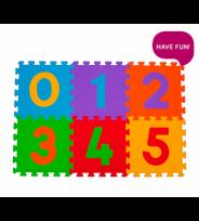 paklājiņš-puzzle CIPARI - 6 plāksnes Babyono 275