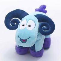Bērnu spilvens kaklām .Mīļspilvens Sammy the Ram Travel Blue 287