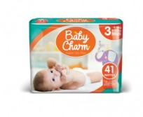 Autiņbiksītes Baby Charm 3 Midi 4-9kg, 41 gab.