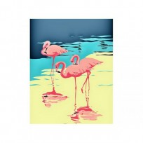 Artventura Krāsa pēc numuriem 3 Flamingo 16,5x13 cm