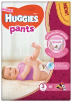HUGGIES PANTS 3.izm. Autiņbiksītes-BIKSĪTES GIRL 6-11KG, 58GB