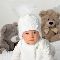 Bērnu cepure, adīta + šalle, 36-38 cm, 40-404