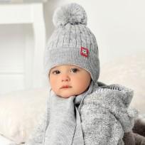 Bērnu cepure, adīta + šalle, 36-38 cm, 40-413