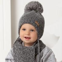 Bērnu cepure, adīta + šalle, 42-46 cm, 40-436