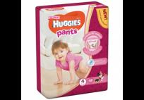 HUGGIES PANTS 4.izm. Autiņbiksītes-BIKSĪTES GIRL 9-14 KG, 52GB