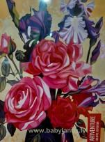 Artventura Krāsa pēc numuriem Ziedu pušķis   A4(21x29,7cm)