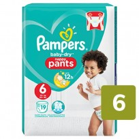 Autiņbiksītes -biksītes Pampers Baby Dry pants izm.6.-19gb.(15+ kg.)