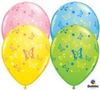 Baloni 28cm QUALATEX Tauriņi