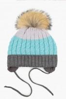 Bērnu adīta cepure GREY TUTU izm.46-50cm.,3-004762