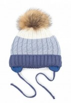 Bērnu adīta cepure BLUE TUTU izm.46-50cm.,3-004762