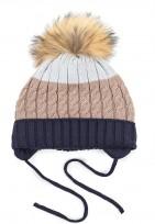 Bērnu adīta cepure N.BLUE TUTU izm.46-50cm.,3-004762