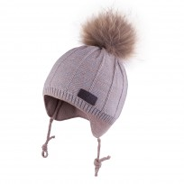 Bērnu adīta cepure TUTU izm.40-44,44-48cm.,3-004777 beige