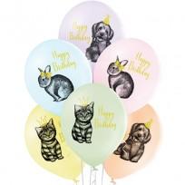 Baloni 28cm QUALATEX BIRTHDAY PETS