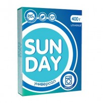 SUN DAY Veļas pulveris Universals (automāts), 400 g