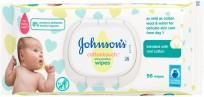 Mitrās salvetes Johnson's cottontouch wipes 56gb