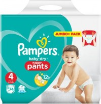 Pampers Baby Dry Pants Size 4 Maxi 9-15kg  (74gb)