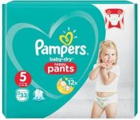 Pampers baby dry pants 5(12-17kg)33gb.( biksītes )
