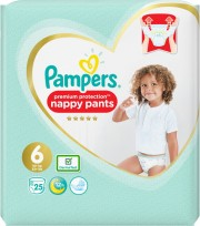 Pampers Premium Protection Nappy Pants Size 6 Extra Large 15kg+
