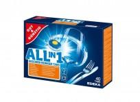Trauku mazgājamās mašīnas tabletes Gut & Gunstig Edeka Power Aktiv 40gab.