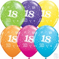 Baloni QUALATEX Cipari -18   28cm,