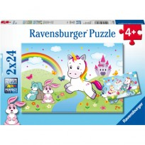 Puzzle 2x24 Fairytale Unicorn Ravensburger 4+,R07828