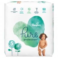 PAMPERS Pure Protection  autiņbiksītes, Size 5-24 gb. 11+kg,