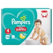 Pampers Baby-dry pants 4-38 (9-15 kg.) biksītes
