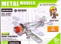 Metāla konstruktors 6.g.+(27 detaļas) A981