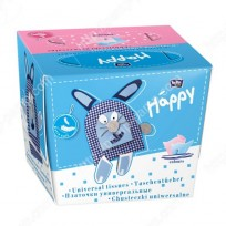 HAPPY Universālās higiēniskās salvetes -2-divslāņu,80.gb.pink-blue