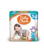 Autiņbiksītes Baby Charm 5 Junior 11-25kg, 34 gab.