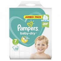 Pampers Baby Dry Air Channels Nappy 15+ (58gb)