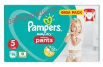 Pampers baby-dry Pants 5 (12-17kg ) 96 gb. ( biksītes )