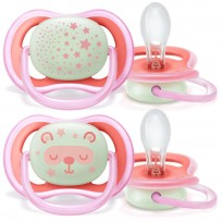 PHILIPS AVENT MĀNEKLĪTIS ULTRA AIR NIGHT, 6-18M, (2GAB), ROZĀ