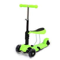 Scooter / Skrejritenis 2 in 1 GREEN
