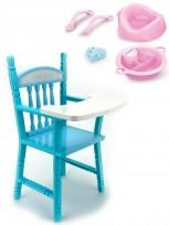Krēsls lellēm  Anna De Wailly sērijai, komplekts ar piederumiem barošanai