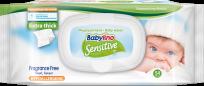 """Babylino Sensitive"" mitrās salvetes 54.gb."