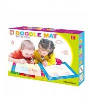 Vairākkārt izmantojamais zīmēšanas paklājiņš bērniem 80x60cm (41322)