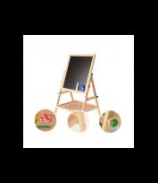 Liela divpusēja magnētiskā tāfele zīmēšanai un spēlēšanai ar piederumiem  ...