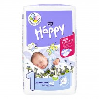 Bella Happy Newborn autiņbiksītes 1 izmērs (2-5kg) 42gb.