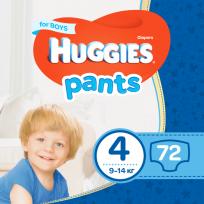 HUGGIES PANTS 5 BIKSĪTES BOY(9-14kg)KG 68GAB,