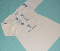 Bērnu krekls krīstībam ar izšuvumu 100% kokvilna